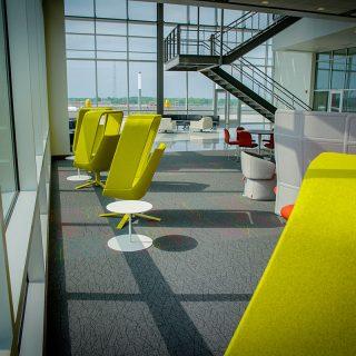 Take A Seat Overlooking Fort Wayne In Ash Brokeage Atrium
