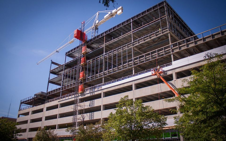 Ash Skyline Plaza Takes Shape In Downtown Fort Wayne