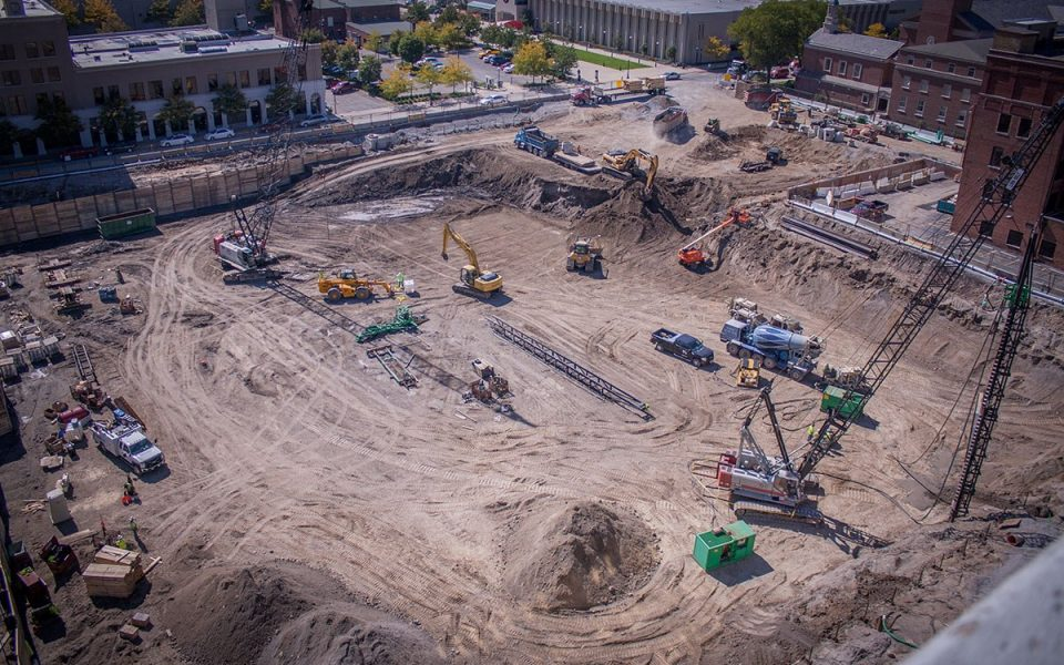 Dirt Removed From Ash Skyline Plaza Construction Site