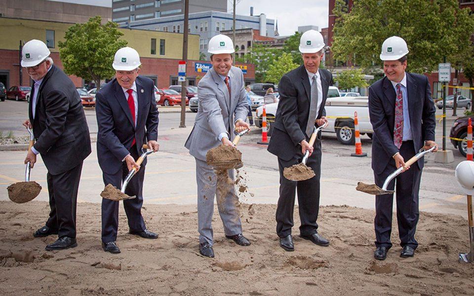 Groundbreaking for Ash Skyline Plaza Downtown Fort Wayne