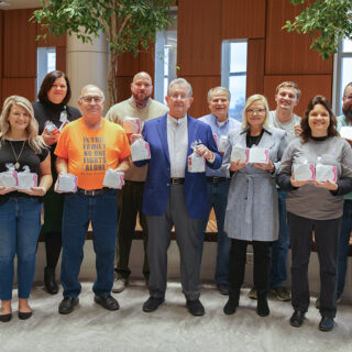 Ash Brokerage Team Members Collect Soup for Cancer Patients