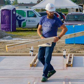 Ryan Fox From Ash Brokerage Volunteers Habitat for Humanity