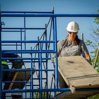 Stephanie Hendry Ash Brokerage Moves Scaffolding for Habitat For Humanity Fort Wayne