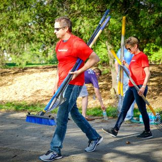 Tim and Libby Ash Cleans Up Fort Wayne Parks with Ash Brokerage