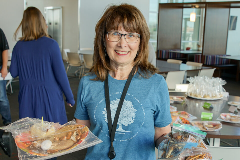 Anne Kingsberry Holds Bake Sale Fundraiser At Ash Brokage Impact Committee