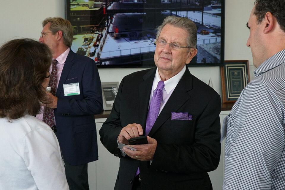 Jim Ash Talks With Advisors Visting Ash Brokerage in Fort Wayne Indiana