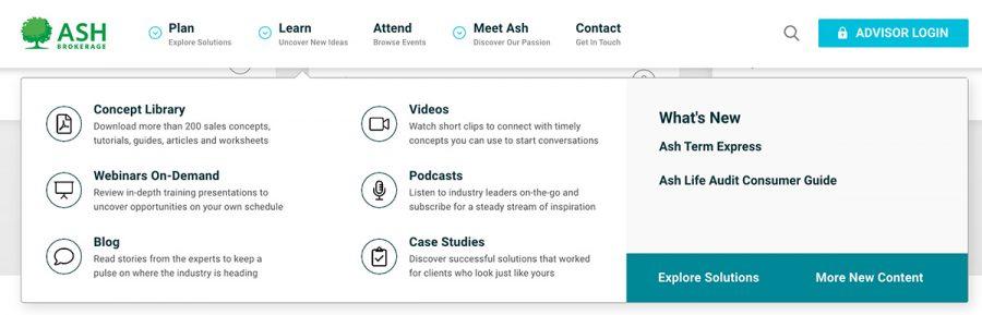 Learn-Menu-Ash-Brokerage-Website